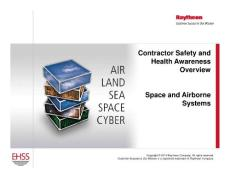 Contractor Safety and Health Awareness Overview ...