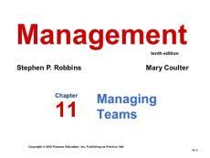 《管理学教学资料》第十一章 管理团队
