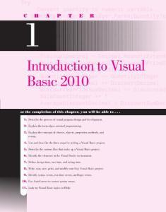 VB2010的介绍和使用
