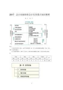 2017年初级会计职称-初级会计实务重点资料整理