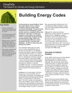 CHINA FAQS-BUILDING ENERGY CODES