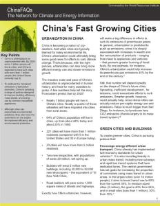ChinaFAQs_China´s_Fast_Growing_Cities