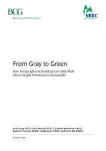 From Gray to Green – how energy efficient buildings can help make China's rapid urbanisation sustainable