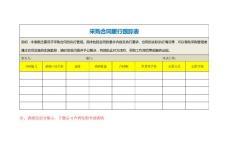 采购合同履行跟踪表