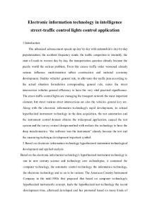 电子信息技术在智能交通信号灯控制中的应用 毕业论文外文文献翻译