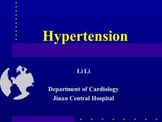 山东大学《内科学》李莉-1高血压教案