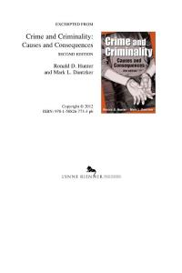 Crime and criminality C..