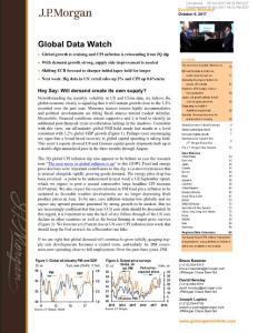 J.P. 摩根-全球宏观经济数据解读