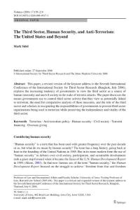 国外英语论文:The Third Sector, Human Security, and Anti-Terrorism: The United States and Beyond