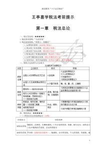 王亭喜2015税法考前提示必须掌握的知识点