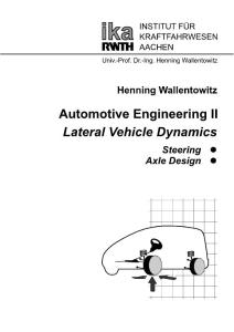 Automotive Engineering II - Lateral Vehicle Dynamics[Henning Wallentowitz][ika][4th Edition][Feb 2004]
