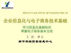 企业信息化与电子商务技术基础培训.ppt