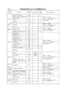 黄冈师范学院2011年招聘教..