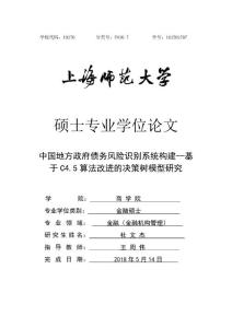 中国地方政府债务风险识别..