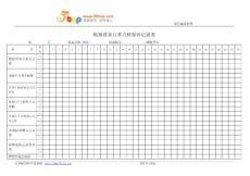 冲床设备点检保养记录表