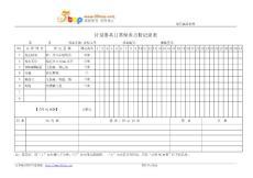 游标卡尺日常保养点检记录表