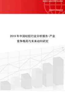 2019年中国硅胶行业分析报告-产业竞争格局与未来动向研究