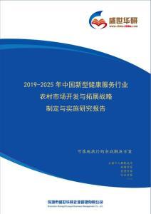 【完整版】2019-2025年中国新型健康服务行业农村市场开发与拓展战略制定与实施研究报告