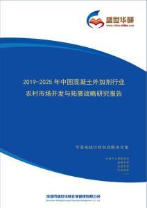 【完整版】2019-2025年中国混凝土外加剂行业农村市场开发与拓展战略研究报告