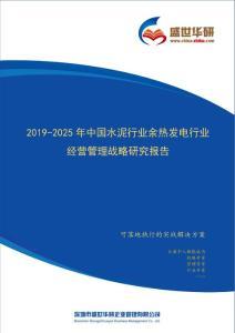 【完整版】2019-2025年中国水泥行业余热发电行业经营管理战略研究报告