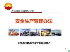 大庆油田有限责任公司安全生产管理办法ppt课件