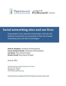 Social networking sites and our lives