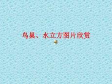 北京之鸟巢的记忆