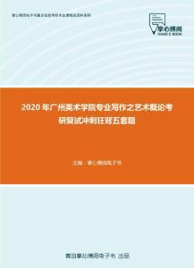 2020年广州美术学院专业写作之艺术概论考研复试冲刺狂背五套题