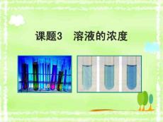 人教版初中化學九年級下冊第九單元 溶液課題3 溶液的濃度課件