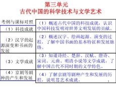 一輪復習古代中國的科學技術與文學藝術ppt課件
