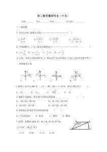 初二数学暑假作业(15)