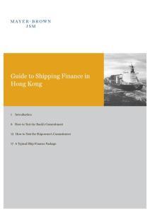 guide to Hongkong´s shipping finance