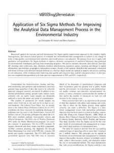 Application of six sigma methods for improving the analytical data management process in the environmental industry