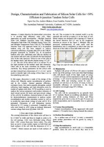 Design  characterization and fabrication of silicon solar cells for ≫50% efficient 6-junction tandem solar cells
