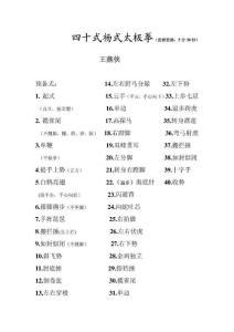 杨式太极拳集锦