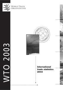 世界贸易统计2003