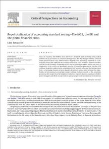 Repoliticalization-of-accounting-standard-setting-The-IASB -the-EU-and-the-global-financial-crisis_2011_Critical-Perspectives-on-Accounting