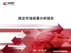 伟业2011年3月保定市场前景分析报告