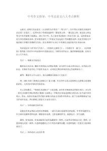 中考议论文六大考点解析