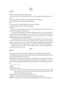 现代大学英语听力1原文及答案