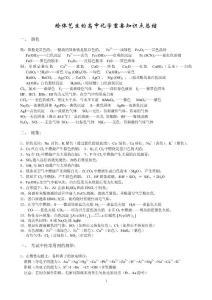 精华版高中化学重点知识详细总结[1]