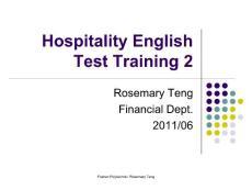 [专业四八级]酒店职业英语考前培训2