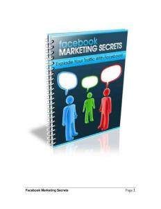 facebook and marketing