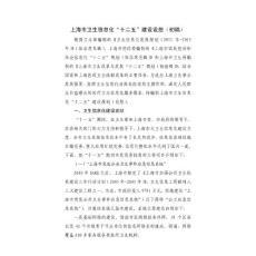 """上海市卫生信息化""""十二五""""建设设想"""