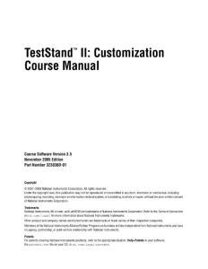TestStand 基础2(NI官方培训教材)