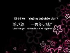 初级汉语口语 第八课
