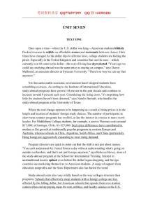 考研英语阅读理解精读100篇 UNIT 7