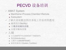 PECVD 主机介绍