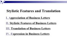 Examples and Stylistic Features of Business Letters