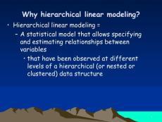 多层线性模型构建概论与入门(hierarchical linear modeling)